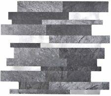 Vinyle Pierre Optique Subway Gris Glossy Autocollant Mur Carrelage Miroir wb200-mlg