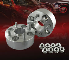 "2pc 50mm (2"") Thick 4x100 Hub Centric Wheel Adapters Spacers M12x1.5 57.1mm"
