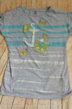 Nautica gray short sleeve t-shirt sz 12, glittery butterflies
