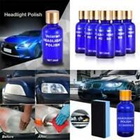 Headlight Lens Restoration System Repair Kit Plastic Car Light Polishing Cleaner