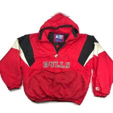 Chicago Bulls Pullover Starter Jacket Mens Size L Embroidered Vintage