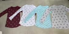 LOT of 4 JUSTICE Long Sleeve Shirts Size 12