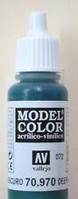 Vallejo Model Color Paint: 17ml Deep Green 70970 (M072)