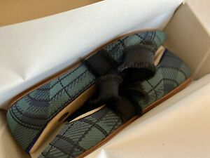 Rothy's Mary Jane Flat Pine Plaid Size 11 New In Box