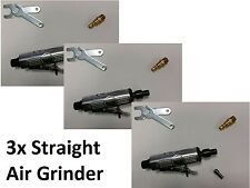 3x Quanity Bundle Straight Air Die Grinder 1/8 and 1/4 Dotco Compatible Collet