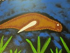 Original Australian Aboriginal Dugong Art Acrylic Painting by Greg Assan