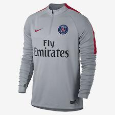 New Mens Nike Paris Saint Germain PSG Football Squad Drill Top S 809738 013 Grey