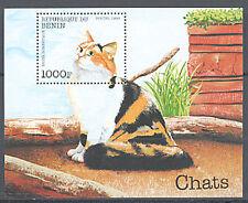 Benin, Sc #1100, MNH,1998, Cats, S/S, Souvenir Sheet, 261-1
