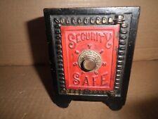 "Wonderful old original cast iron combination ""Security Safe"" still bank c.1894"
