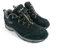 LL Bean TEK 2.5 Black Leather Lace Up Athletic Trail Hiking Shoes Women's 7.5 M