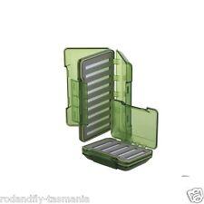 Fly Box R&F Olive Green Transparent Waterproof Slit Foam Fly Box Lg 196×116×42m