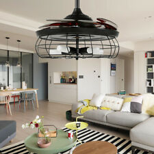 """42"""" Modern Ceiling Fan LED Light Invisible Blade Reversible Chandelier Remote"""