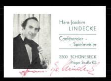Hans Joachim Lindecke Autogrammkarte Original Signiert ## BC 113272