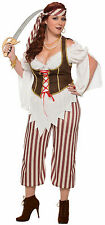 Womens Plus Size Pirate Swashbuckler Costume