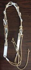 Ralph Lauren Leather and Macrame Jute Tie Belt