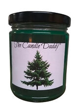 Pine Tree Christmas Tree 6 oz glass candle by The Candle Daddy 40 plus hour burn