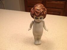 Vintage Bisque Porcelain KewpieType Doll W/ Jointed Arms No Clothing Nice