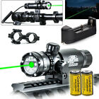 Tactical Green & RED Laser Sight Rifle Dot Scope +Swith +Picatinny Rail +Mounts