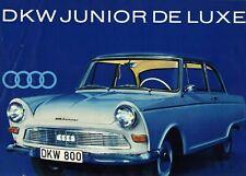 Brochure / Catalogue de vente promo AUTO UNION AG / DKW JUNIOR DE LUXE