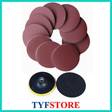100pcs 5inch(125mm) 320 Grit Sanding Disc sandpaper disks with free wheel pad
