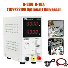 Dual Adjustable Lab DC 30V 10A Variable Bench Power Supply 110V 220V Universal