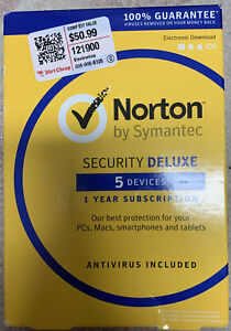 Norton Deluxe 5 Devices 1-Year Subscription