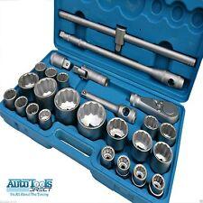 PROFESIONAL 26pc 1.9cm & 2.5cm DRIVE cromo vanadio Set de vasos