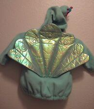 OLD NAVY Teal Multicolor Peacock Bird Warm Hoodie Plush Costume (12-24 MOs)