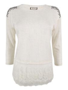 Eyeshadow Juniors' 3/4 Sleeve Faux Layer Sweatshirt S, Brulee
