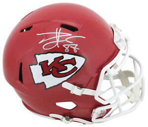 Chiefs Travis Kelce Authentic Signed Full Size Speed Rep Helmet BAS Witnessed