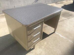 1966 Steelcase Single Pedestal Tanker Desk