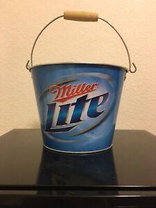 Miller Lite Beer Ice Bucket Metal Drinks