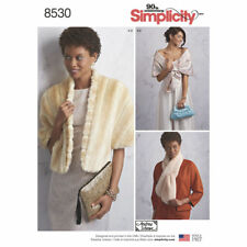 Simplicity SEWING PATTERN  8530 Misses Stole,Shawl,Scarf,Clutch Bags