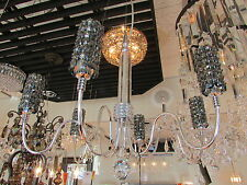 Schonbek EL2220SL - Silver/Steel Geometrix-Elements Crystal Six Light Chandelier