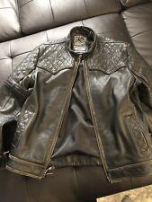affliction mens leather jacket