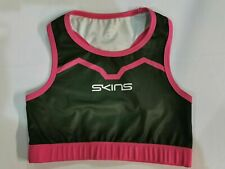 Skins Ladies Pink & Grey Compression Sports Bra / Crop Top-Brand New