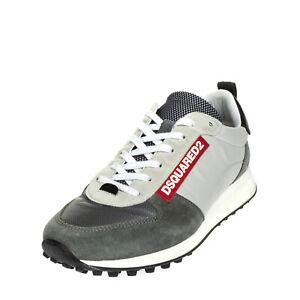 RRP €380 DSQUARED2 Sneakers EU 40.5 UK 6.5 US 7.5 Contrast Leather Colour Block