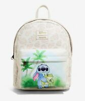Loungefly Disney LILO & STITCH Mini Backpack Bag Frog, Leaves NEW