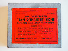 "VINTAGE NATURAL SHARPENING STONE - ""TAM O'SHANTER"" RAZOR HONE - BRITAIN"