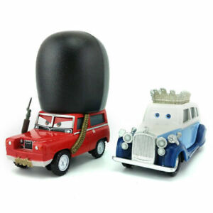 Disney Pixar Cars 2 The queen & Sgt Highgear Diecast Metal 1:55 Toy Model Car