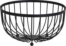 Large Round Black Fruit Bowl Storage Display Basket Centerpiece Bowl