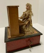 Vintage Wind Up PIANO PLAYER Hand Made Crank Mechanical Music Box Toy Antique