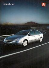 CITROEN C5 Hatchback 2003-04 UK Opuscolo Vendite sul mercato LX VTR esclusivo