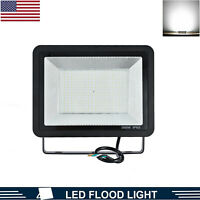 300W LED Flood Lights Outdoor Waterproof Yard Garden Security Lamp Cool White