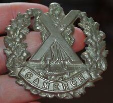 Camerons bonnet badge
