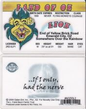 the Cowardly Lion of the Land of Oz drivers License fake id w w denslow wizard