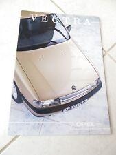 Opel Vectra 1988 sales brochure prospekt catalogue commercial sales