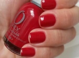 NEW! ORLY nail polish lacquer RED FLARE ~ Dark Apple Red ~ full size