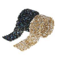 Multi-use Diamond Mesh Wrap Roll Sparkle Crystal Rhinestone Ribbon 3cm Width