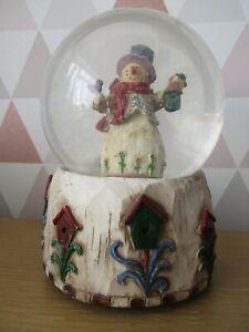 Christmas Snowman Musical Snow Globe We Wish You A Merry Christmas  6 Inch Tall